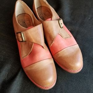 Lucky Brand two tone leather loafers